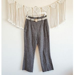ZARA Knit High Rise Belted Pull On Pants sz M